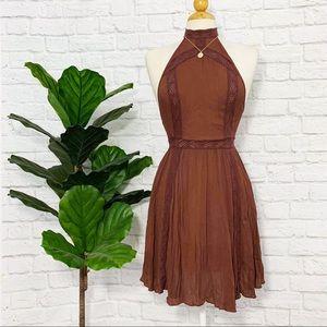Free People Dresses - FREE PEOPLE halter lace boho dress